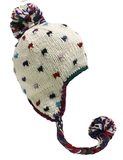 knit hat with ear flaps nepal knit sherpa hat with ear flaps fishingnew