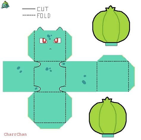how to make origami bulbasaur bulbasaur paper craft by charrchan deviantart on