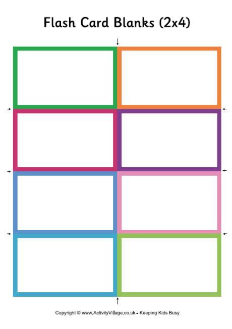 make flash cards printable flash card blanks small