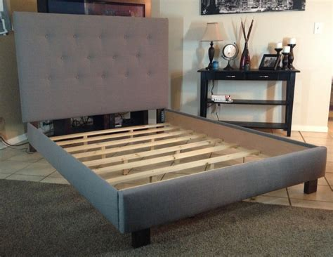 bed frames for or size headboard and bed frame gray linen