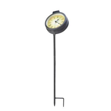 moonray solar lights moonrays solar powered outdoor led clock stake light 95002