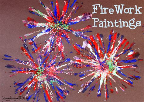 fireworks craft for firework painting juggling with