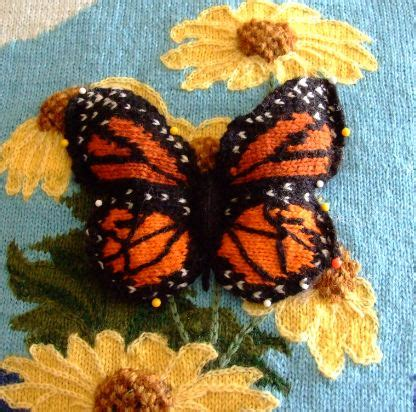 knitted butterfly knitted intarsia 3 d butterfly creative knitting