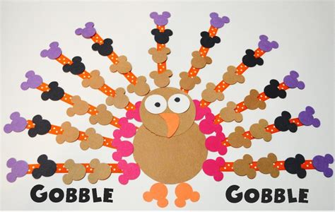 mickey mouse craft projects mickey mouse turkey paper craft mouse ears