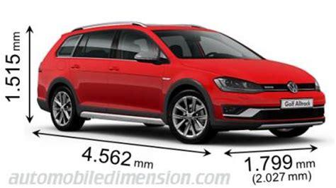 Volkswagen Golf Dimensions by Vw Golf Alltrack Dimensions