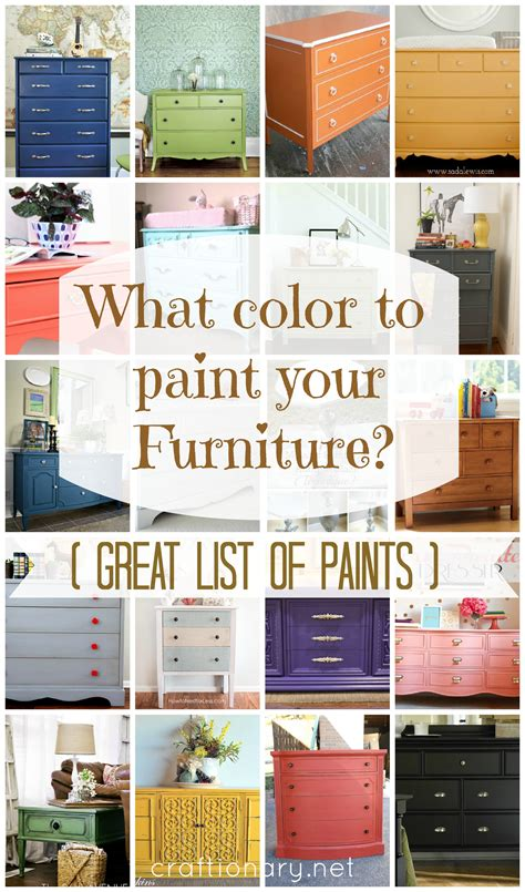 paint colors for furniture craftionary