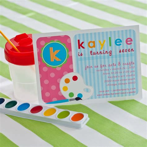arts and crafts ideas for birthday polka dot arts and crafts birthday printable invitation