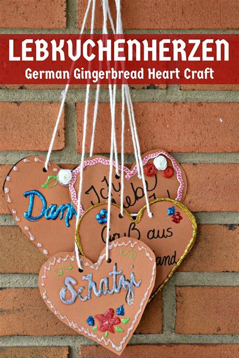 german crafts paper lebkuchenherzen german gingerbread hearts mad in