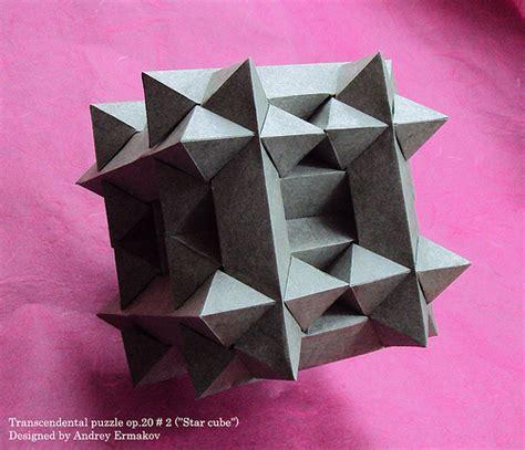 origami puzzle transcendental puzzle op 20 2 cube designed