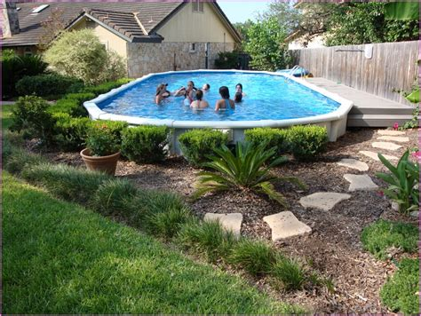 backyard pool ideas pictures above ground pool landscaping ideas pictures studio