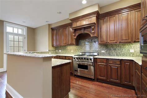 kitchen ideas for medium kitchens traditional medium wood brown kitchen cabinets 62