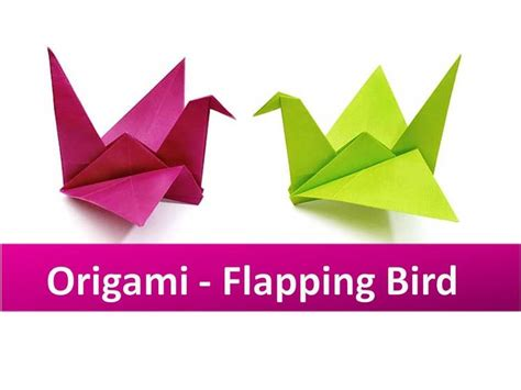 flapping bird origami how to make an origami flapping bird