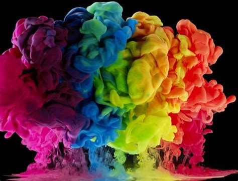 colored water colored liquids create gorgeous rainbow explosions in