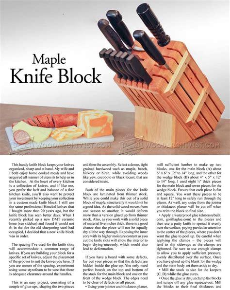 knife block woodworking plans knife block plans woodarchivist