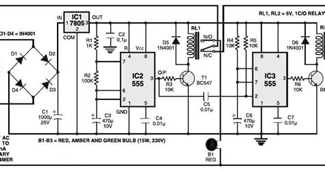 light controller schematic traffic light controller circuits projects
