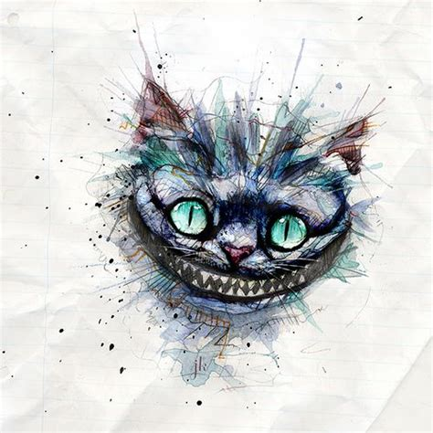 cheshire cats painting cheshire cat in