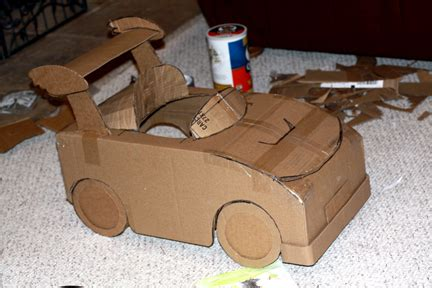 how to make a car out of index cards mario kart from a cardboard box occasions and holidays