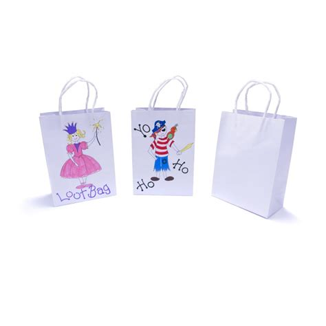 white paper craft bags free 12 pack white paper gift bags