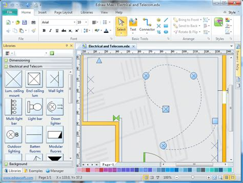 electrical floor plan software electrical and telecom plan software