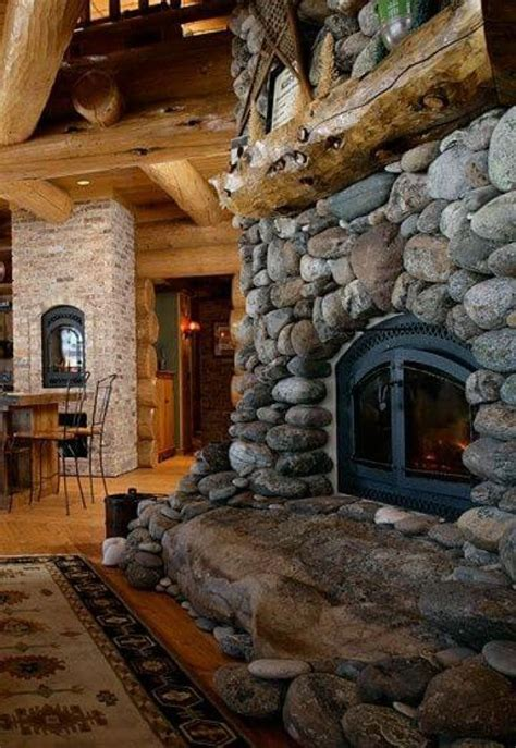 rock fireplaces 17 best ideas about river rock fireplaces on