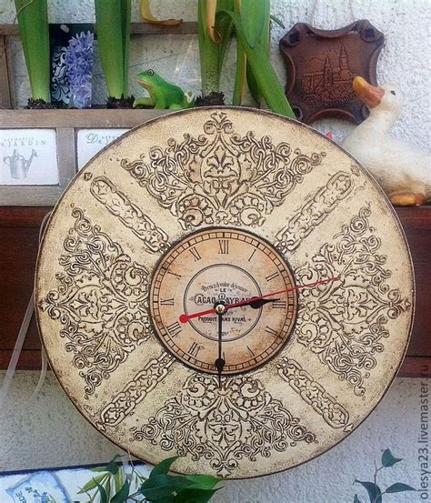 decoupage clock 120 best decoupage clocks images on