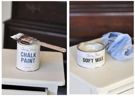 chalk paint wax new painted nightstand centsational