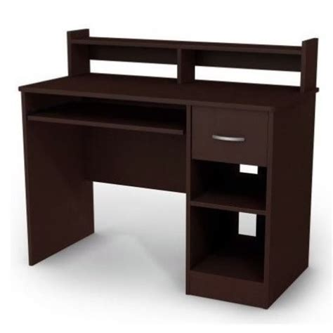 small computer desk with hutch south shore axess small wood computer desk with hutch in