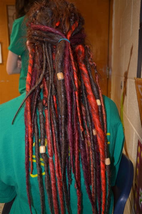 beaded dreads synthetic dreadlocks with wooden dreads