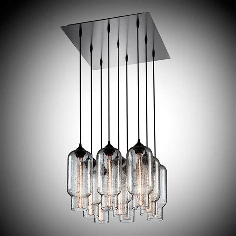 luminous collection 48 wide chandelier 9 uplight chandelier and contemporary