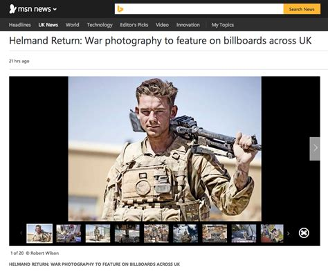 front page for a project msn news robert wilson s helmand return