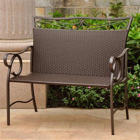 international caravan patio furniture international caravan valencia resin wicker settee free