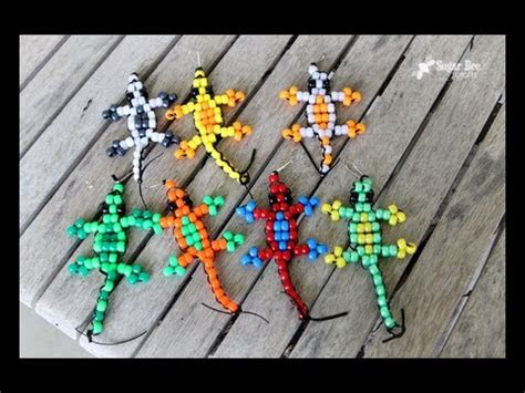 crafts for ages 8 12 pony bead lizard tutorial