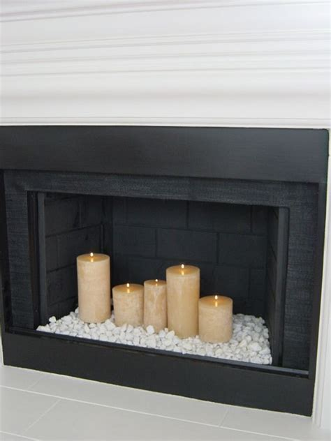 fireplace candles best 25 candles in fireplace ideas on