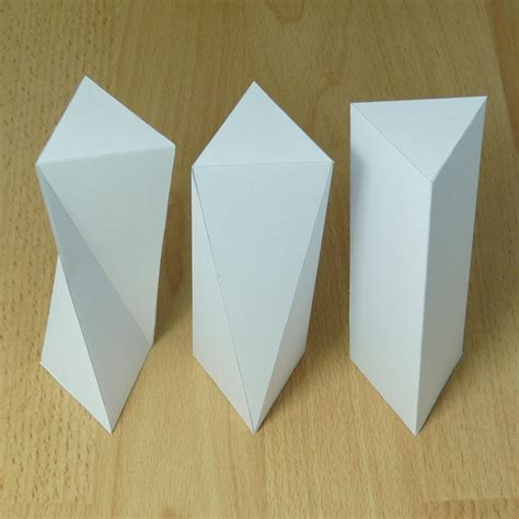 twisted origami twisted triangular prisms line structure form