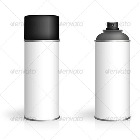 spray paint mockup aerosol spray can graphicriver