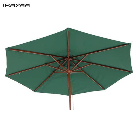 wooden patio umbrella patio umbrella 9ft wooden patio market umbrella w air