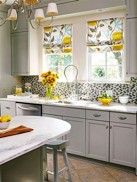 yellow kitchen decorating ideas gray and yellow kitchen contemporary kitchen bhg