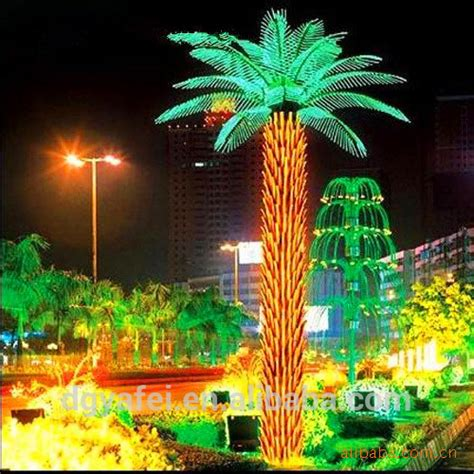 outdoor lighted palm trees led palm tree artificial outdoor lighted palm tree view