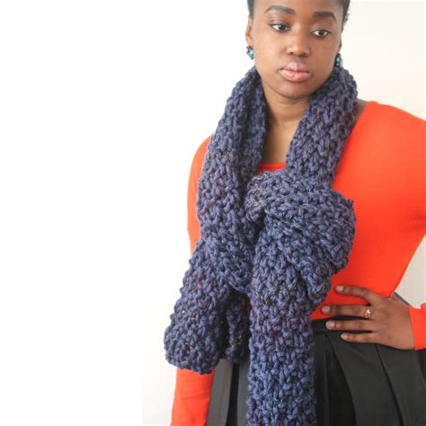 oversized knit scarf blue oversized scarf in a chunky knit urbanknit
