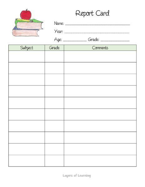 make a report card how to make a homeschool portfolio layers of learning