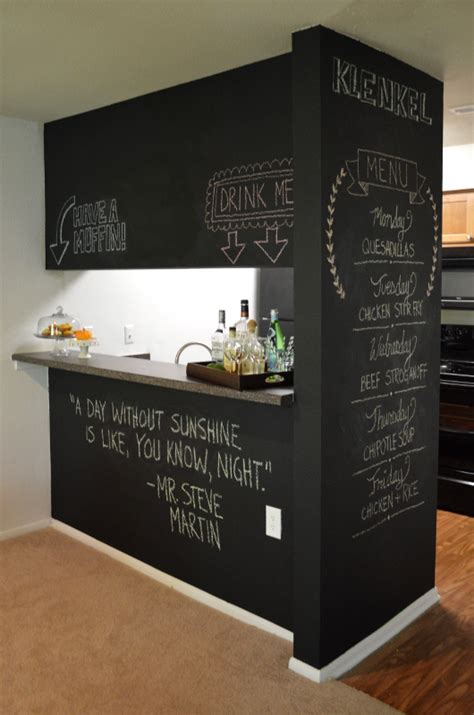 diy chalk paint wall chalkboard wall trend comes to modern homes 38