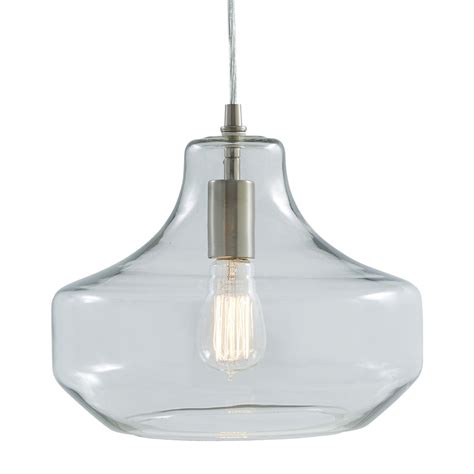 allen and roth pendant lighting shop allen roth 12 01 in brushed nickel deco single