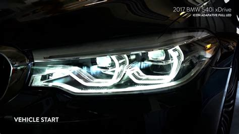 Adaptive Headlights Bmw by 2017 Bmw 5 Series Us Icon Adaptive Led Headlights