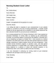 sample nursing cover letter template 8 download free