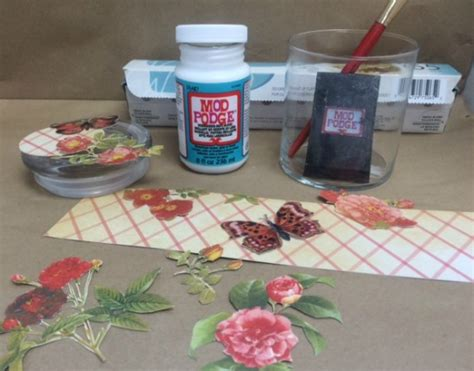 how to seal decoupage diy decoupage on glass yes it s that easy
