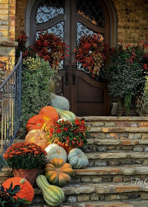 autumn front door decorating ideas best 25 fall front porches ideas on fall