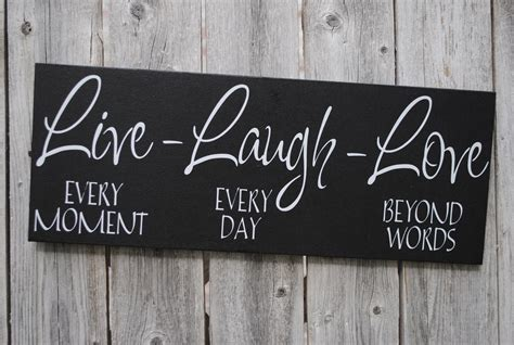 live laugh signs live laugh 6x18 wood sign home decor sign family sign