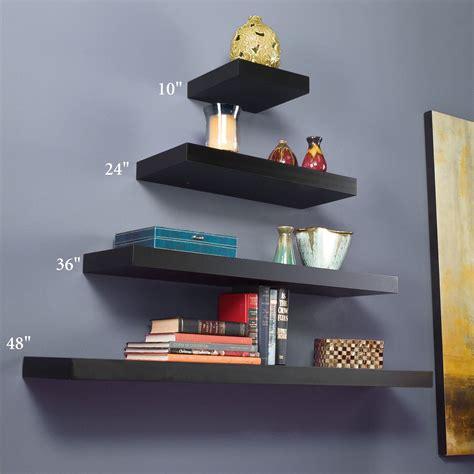 floating black shelves manhattan black wooden floating wall shelves