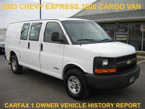 how to fix cars 2003 chevrolet express 2500 head up display buy used 2003 chevy express 3500 cargo van ls lt 3 4 dr service newertires history report in