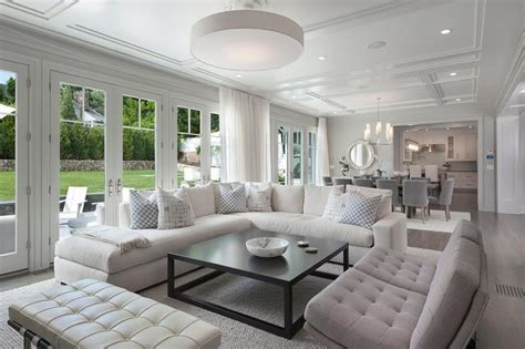 white sectional living room white linen sectional with black coffee table